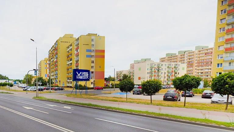 billboard 12 m2, Grudziądz, ulica Warszawska / Podpułkownika Skarżyńskiego