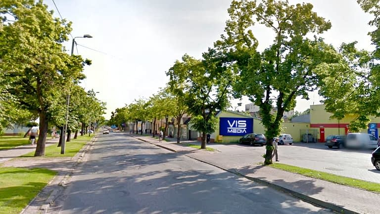 billboard 12 m2, Włocławek, ulica Kaliska 35b Koło Biedronki
