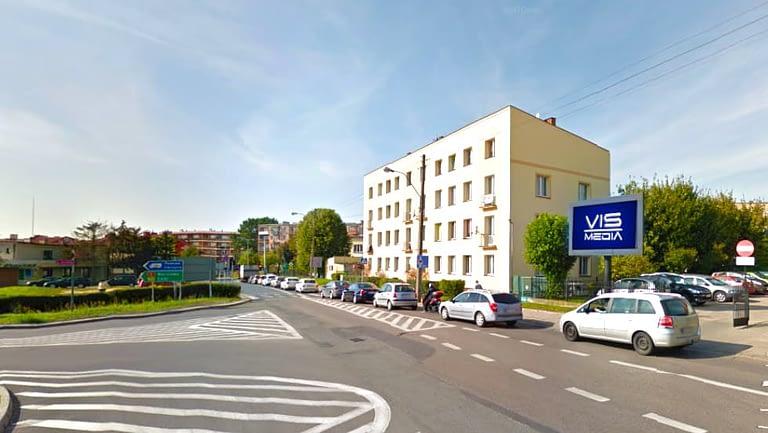 Telebim skrzyżowanie ulic Jana Pawła II oraz Oporowskiej w Kutnie, agencja reklamowa Vismedia