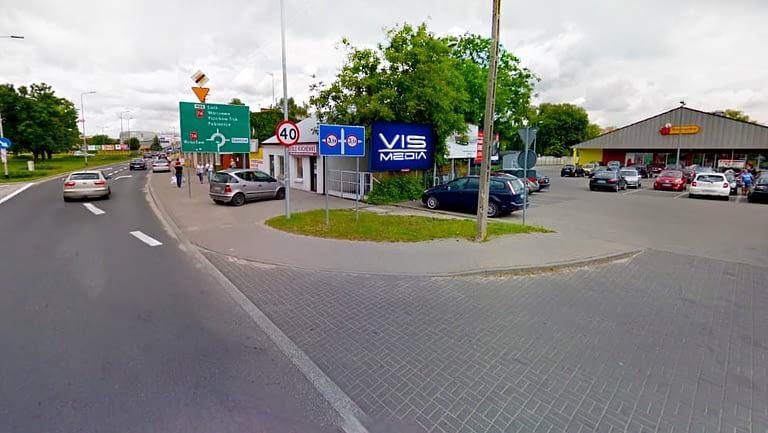 billboard 12 m2, Bełchatów, ulica Wojska Polskiego 8 obok Biedronki