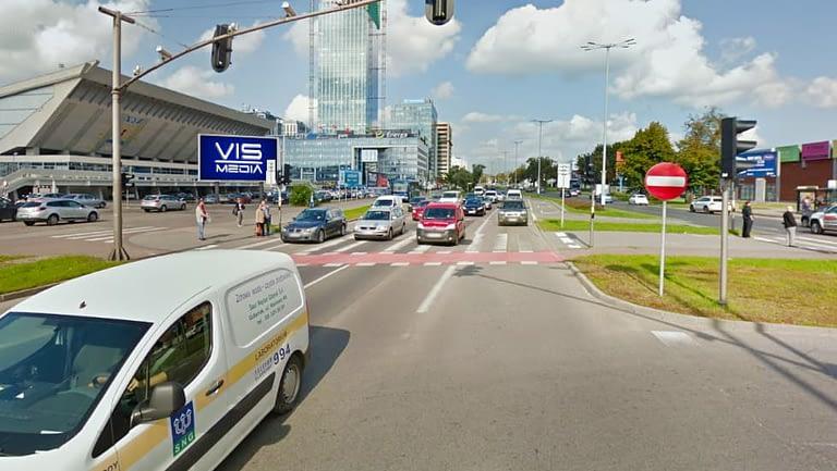 Telebim ulica aleja grunwaldzka 470 w Gdańsku, agencja reklamowa Vismedia