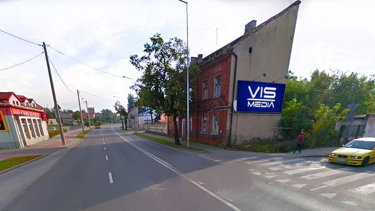 billboard 12 m2, Włocławek, ulica Kapitulna i Chłodna,
