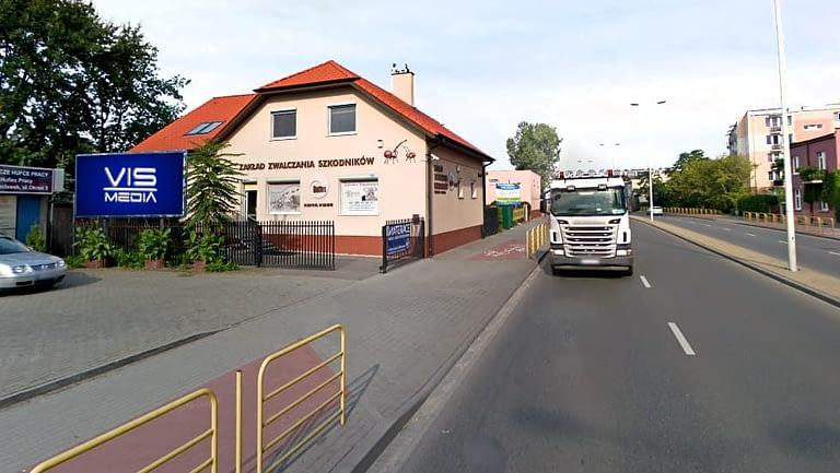 billboard 12 m2, Włocławek, ulica Okrzei 7
