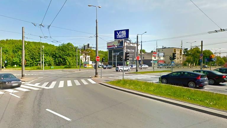 skrzyżowanie ulic Zwycięstwa oraz Wielkopolskiej w Gdyni, agencja reklamowa Vismedia
