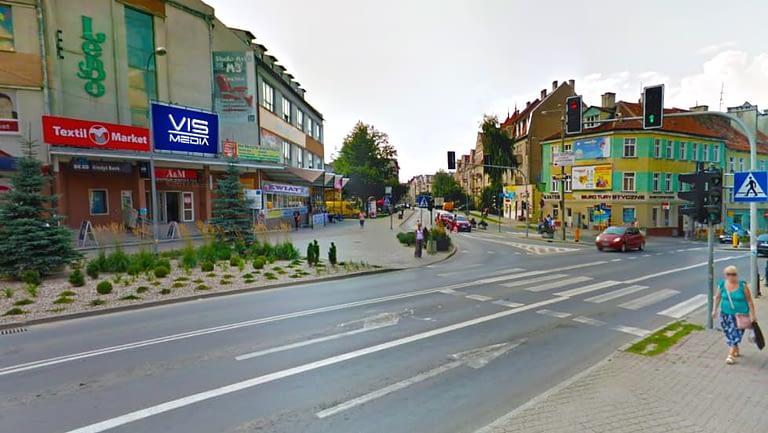 Ulica Jana Pawła II oraz Czarnieckiego w Ostródzie, agencja reklamowa Vismedia
