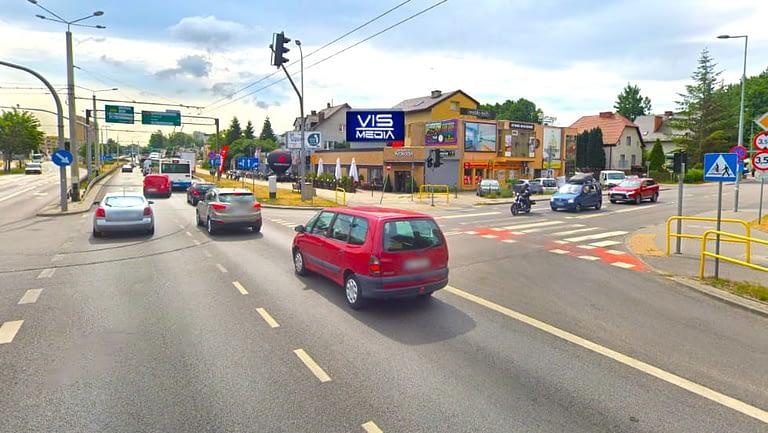 skrzyżowanie ulic Kcyńskiej oraz Morskiej w Gdyni, agencja reklamowa Vismedia