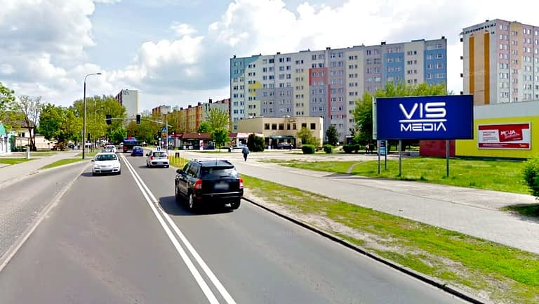 billboard 12 m2, Włocławek, ulica Zbigniewskiej 19