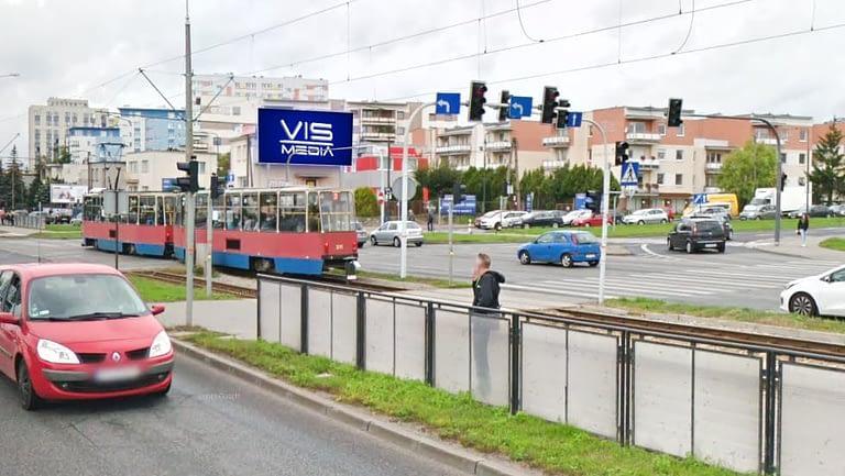 Telebim skrzyżowanie ulic Łęczycka Fordońska w Bydgoszczy, agencja reklamowa Vismedia