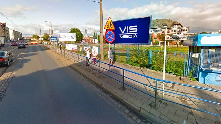 billboard 12 m2, Grudziądz, ulica Czerwonodworna