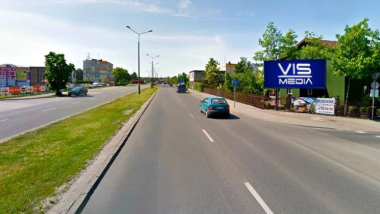 billboard 12 m2, Włocławek, ulica Kruszyńska i Dziwińska
