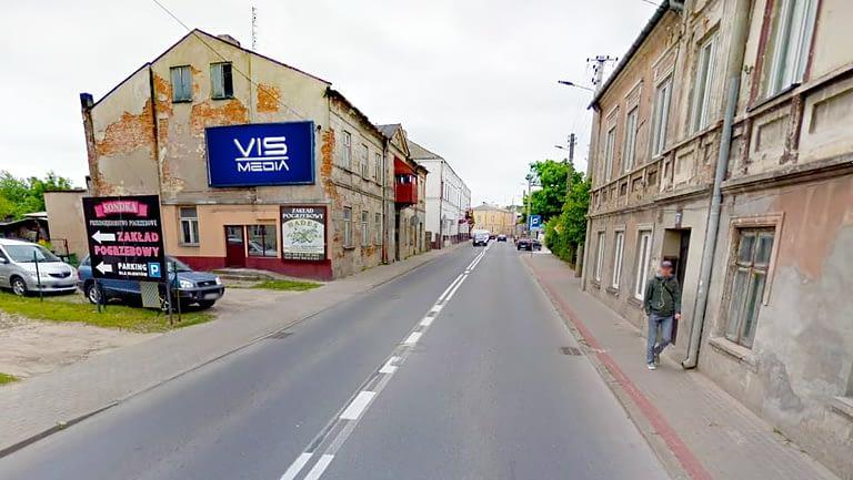 billboard 12 m2, Rawa Mazowiecka, ulica Warszawska 10