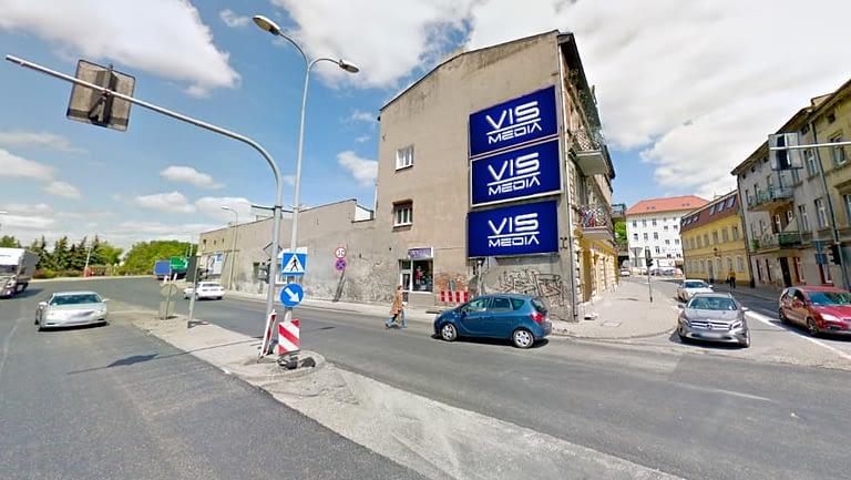 billboard 12 m2, Inowrocław, skrzyżowanie ulic Staszica i Narutowicza