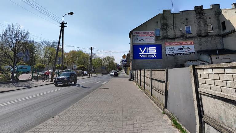billboard 12 m2, Zduńska Wola, ulica Mickiewicza i Kościelna