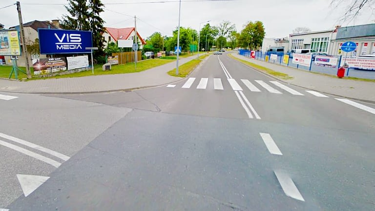 billboard 12 m2, Rawa Mazowiecka, ulica Reymonta, Targowa oraz aleja Konstytucji 3 Maja