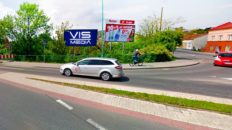 billboard 12 m2, Włocławek, ulica Lipnowska i Most generała Rydza-Śmigłego