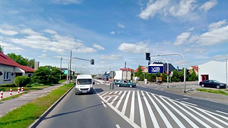 billboard 12 m2, Inowrocław, skrzyżowanie ulic Poznańska i Polna