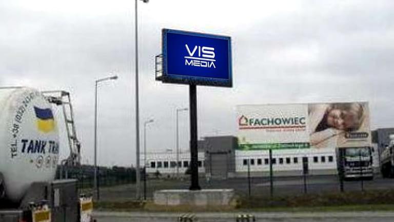 Telebim ulica przejście graniczne w Korczowie, agencja reklamowa Vismedia