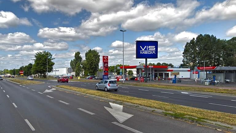 Telebim ulica Skłodowska Curie 95 w Toruniu, agencja reklamowa Vismedia