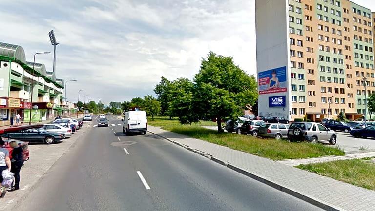 billboard 12 m2, Bełchatów, ulica 1 Maja 26 naprzeciwko stadionu
