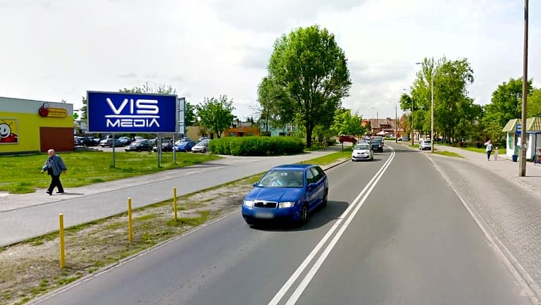 billboard 12 m2, Włocławek, ulica Zbigniewskiej i Henryka Sienkiewicza