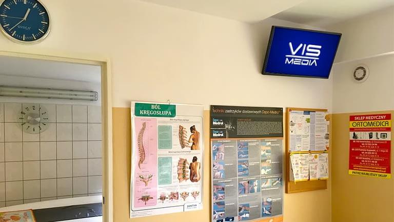 Monitor reklamowy, monitor reklamowy w Inowrocławiu, Przychodnia Medyczna 2