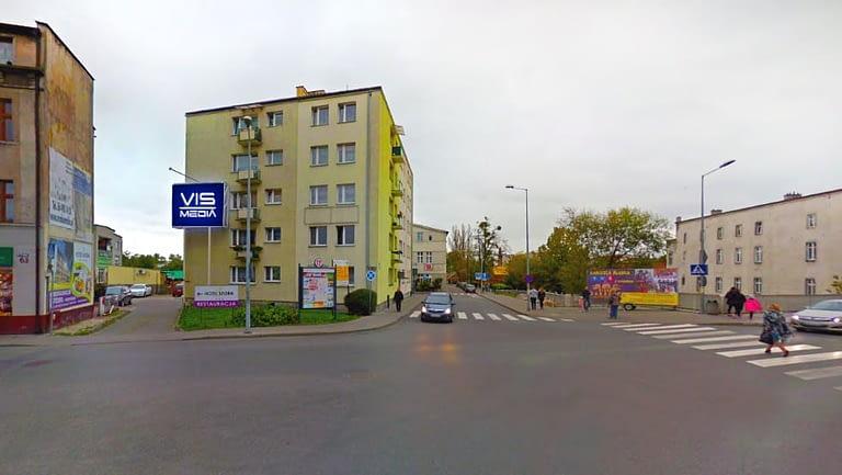Telebim ulica Nad Drwęcą 1a w Brodnicy, agencja reklamowa Vismedia