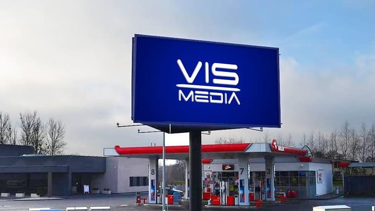 Telebim ulica Rondo Bydgoskie w Wąbrzeźnie, agencja reklamowa Vismedia