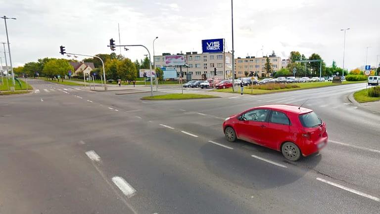 Ulica Wincentego Pstrowskiego oraz Ulica kardynała Wyszyńskiego w Olsztynie, agencja reklamowa Vismedia