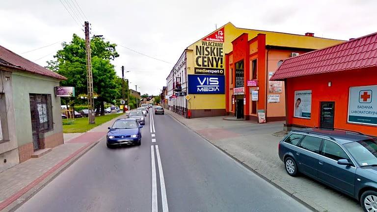 billboard 12 m2, Rawa Mazowiecka, ulica Warszawska 8