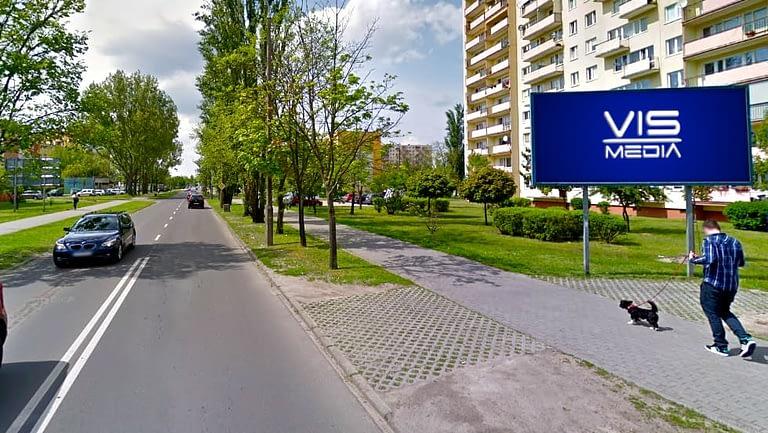 billboard 12 m2, Włocławek, ulica Zbigniewskiej i Kaliska