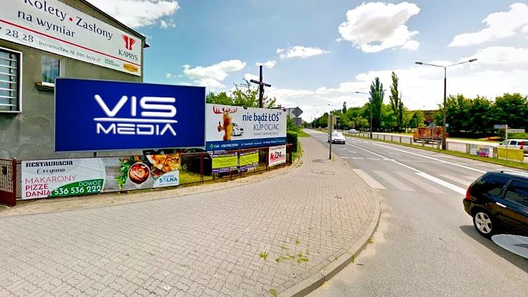 billboard 12 m2, Inowrocław, ulica Świętokrzyska 67