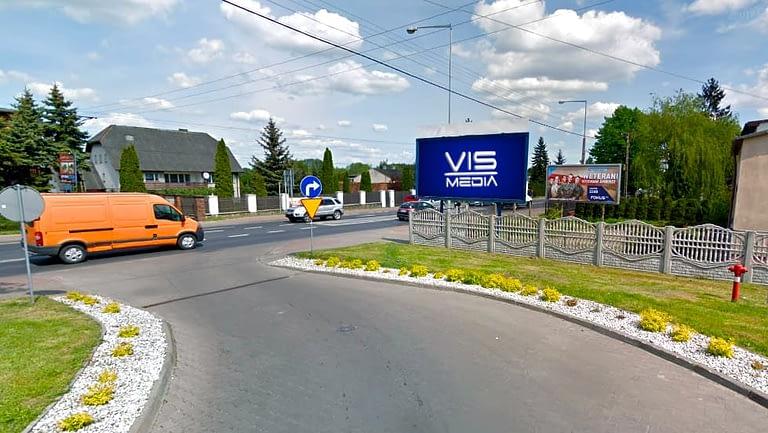 billboard 12 m2, Aleksandrów Łódzki, ulica Wojska Polskiego 85
