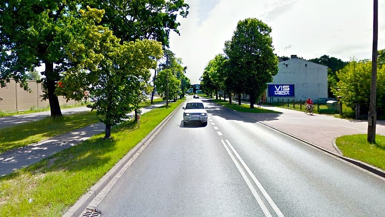 billboard 12 m2, Zduńska Wola, ulica Sieradzka 73